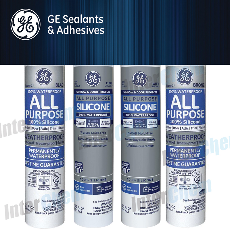 GE Sealants & Adhesives Silicone All Purpose Sealant – GROUP Category